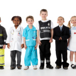 Young Children Dressing Up For Careers Day