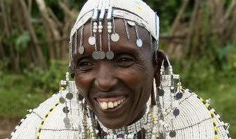 """""""Maasai Woman Dressed Up for Party - Tanzania"""""""