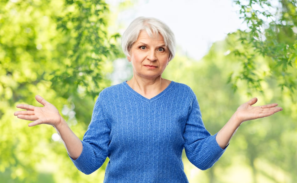 confused woman wondering when to retire