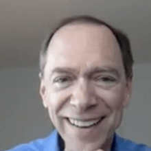 Photo taken from the video interview ofJohn David Mann, co-author of The Go-Giver
