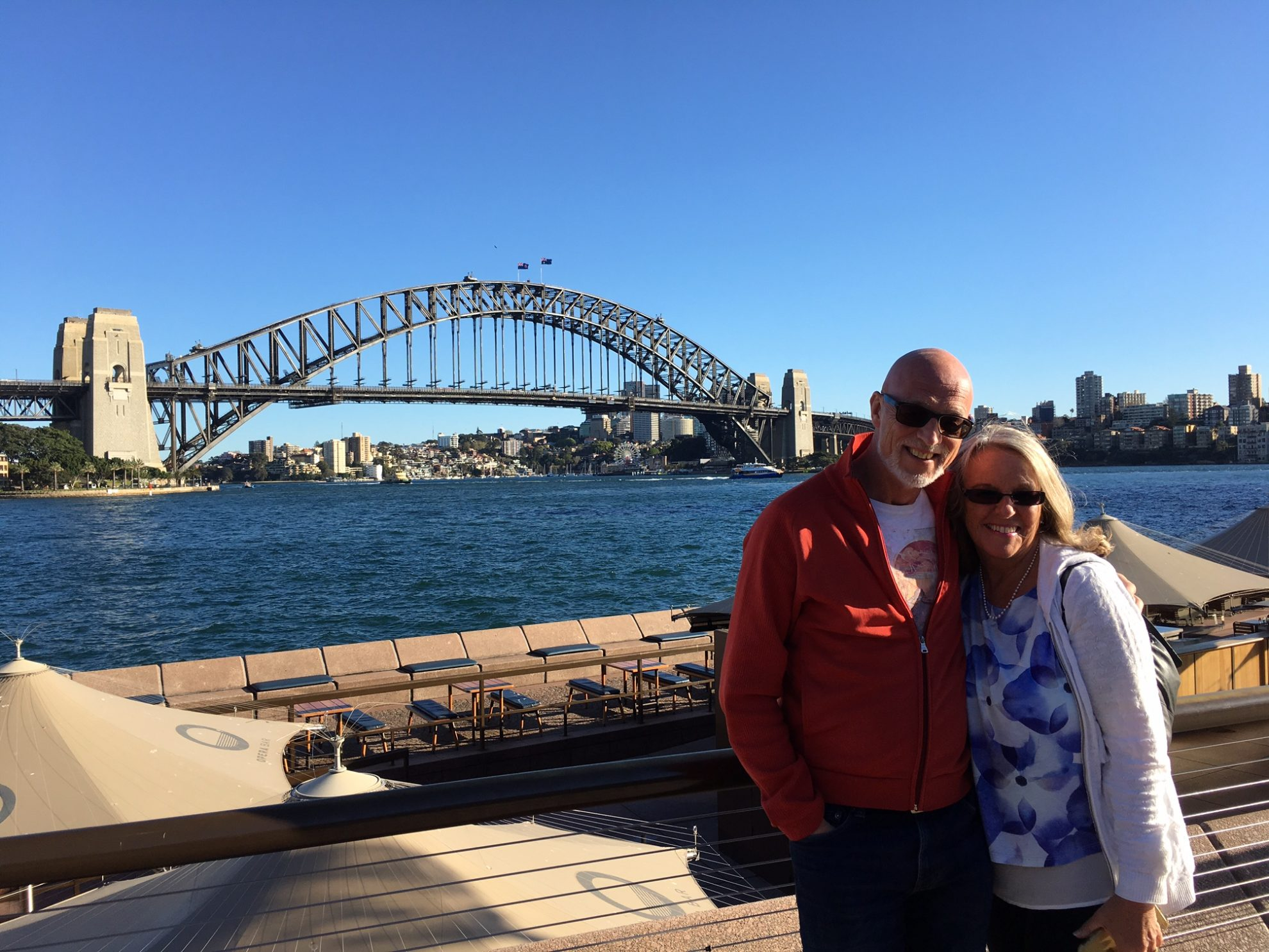 Chris and Susan Beesley in Sydney