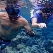 Photographic memory of Geoff Di East snorkeling