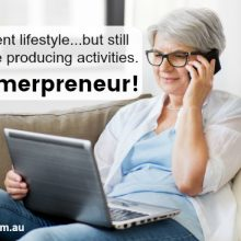Enjoy retirement lifestyle...freedom, travel, less stress but still have an income producing business. Have a business plan for your retirement. Be a boomerpreneur!