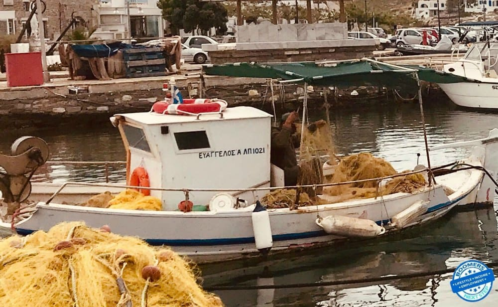 Fishing is a major industry on Naxos Greece