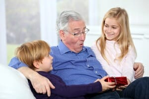 Aging parents - Grandfather with grandchildren