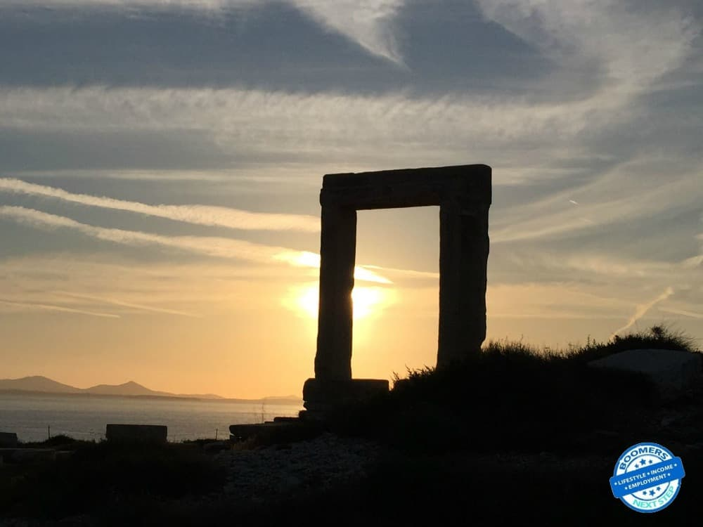The Arch of Apollo in Naxos Town